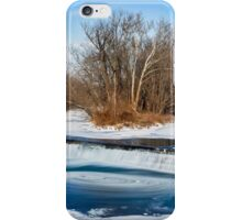 Icy Swirling Waterfall iPhone Case/Skin