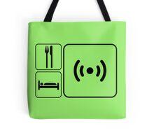 Eat Sleep WiFi Tote Bag