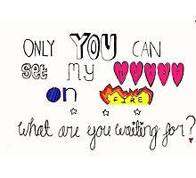 Lyrics from Love Me Like You Do  Photographic Print