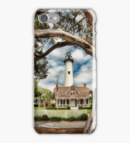 St. Simons Island Lighthouse  iPhone Case/Skin