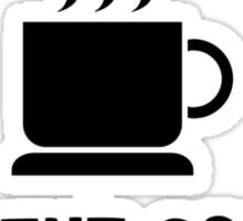 Yawn Coffee Sticker