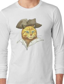Pirate Cat Face Long Sleeve T-Shirt
