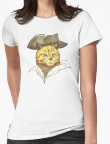 Pirate Cat Face Womens Fitted T-Shirt