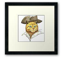 Pirate Cat Face Framed Print