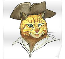 Pirate Cat Face Poster