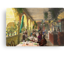 Restaurant - Waiting for service - 1890 Metal Print