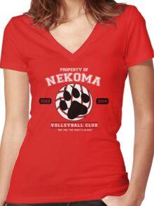 Team Nekoma Women's Fitted V-Neck T-Shirt