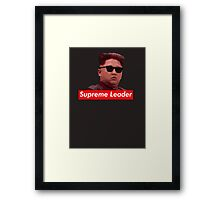 Kim Jong-un new haircut North Korea supreme leader Framed Print