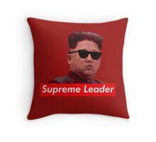 Kim Jong-un new haircut North Korea supreme leader Throw Pillow