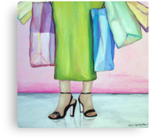 Bag Lady Canvas Print