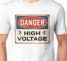 DANGER: HIGH VOLTAGE - T-shirt, pillow, cover, skin & others Unisex T-Shirt