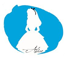 Alice in Wonderland silhouette by MariondeLauzun