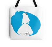 Alice in Wonderland silhouette Tote Bag
