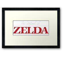 Legend of Zelda - Logo Framed Print