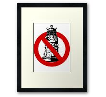 WHO you gonna call? White Framed Print