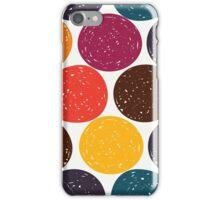Polka dots retro fun pattern iPhone Case/Skin