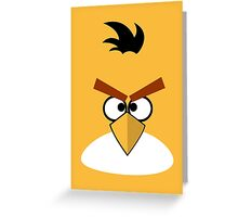Yellow and Angry Greeting Card