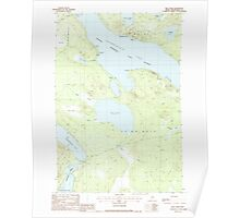 Maine USGS Historical Map Mud Pond 102795 1988 24000 Poster