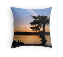 Last run of the day Throw Pillow