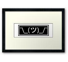 Shrug emoticon ¯\_(ツ)_/¯ Framed Print