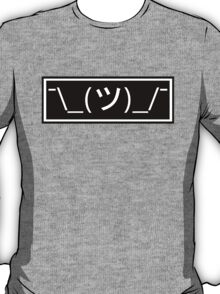 Shrug emoticon ¯\_(ツ)_/¯ T-Shirt