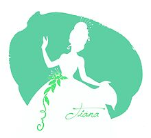Tiana Princess and the Frog silhouette by MariondeLauzun