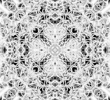 """""""Spirit of India: Fleur and Cross"""" in white, grey and black by FireFairy"""