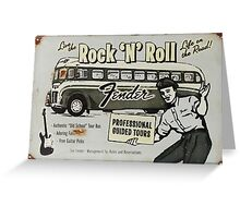 Fender Guided Tour - Life on the Road Vintage Sign Greeting Card