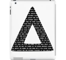 Bastille Triangle - Pompeii lyrics iPad Case/Skin