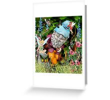 Naughty Gnome and Friends Greeting Card