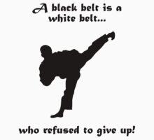 Black belt Refusal Kids Clothes