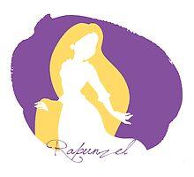 Rapunzel tangled silhouette by MariondeLauzun