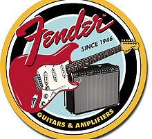 Fender since 1946 Guitar Sign - Cover, Hoodie, T-shirt, Skin, Mug, Pillow etc. by TheyCallMeCCV