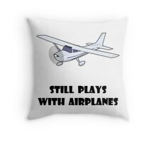 Plays With Airplanes Throw Pillow