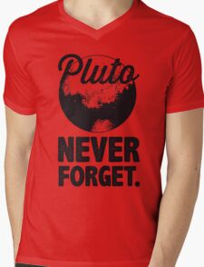Pluto Never Forget Mens V-Neck T-Shirt