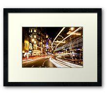 Bright lights of London Framed Print