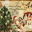 Vintage Christmas Collage by Angelina Cornidez