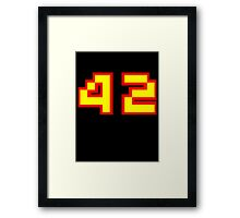 The Answer to Life, the Universe, and Everything Framed Print
