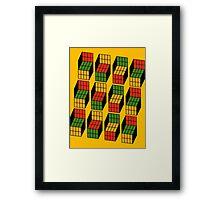 Sheldon Cooper's Rubik's Mash. Framed Print