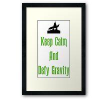 Defying Gravity - Wicked Framed Print