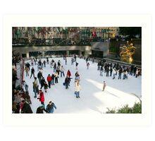 Ice Skating Rink at Rockefeller Center - NYC Art Print