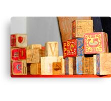 Vintage Blocks Canvas Print