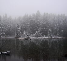 A SMALL LAKE NEAR MT. ADAMS WASHINGTON  ON THE PACIFIC CREST TRAIL by Michael Beers