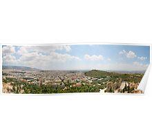 Panorama of Athens Poster