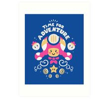 Time for Adventure Toadette Art Print