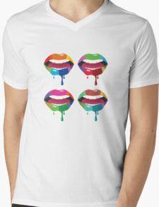 Melting Lips 5 Mens V-Neck T-Shirt
