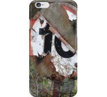 Worn Out Road Sign iPhone Case/Skin