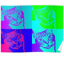 Psychedelic Cat Poster