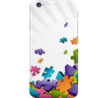 Light Puzzle Pieces iPhone Case/Skin