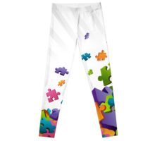 Light Puzzle Pieces Leggings